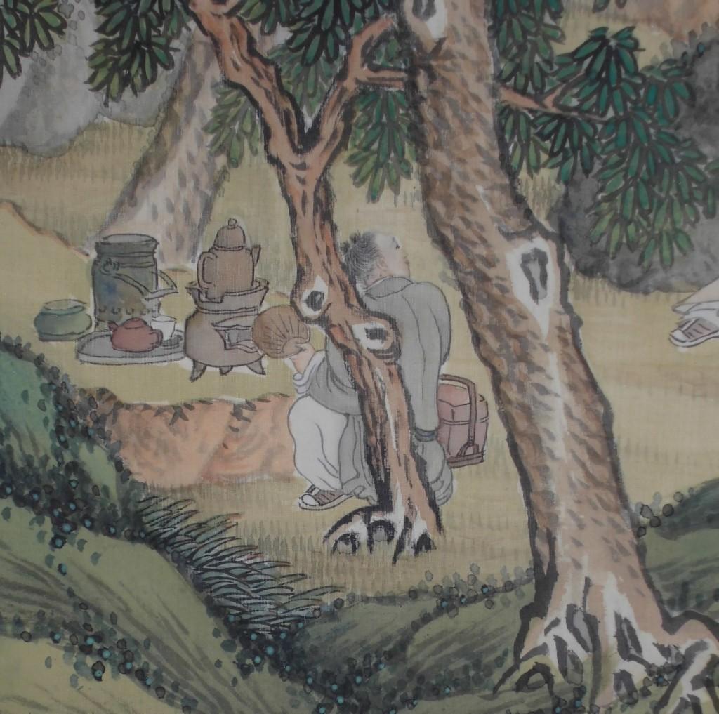 松花堂 森琴石 人物(煎茶準備)