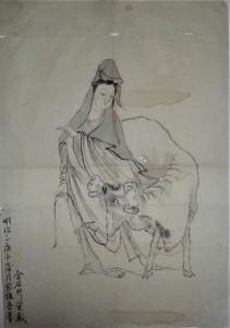 観音牛図(明治3年 金石艸堂)