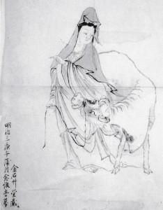 白衣観音 牛図(明治3年)