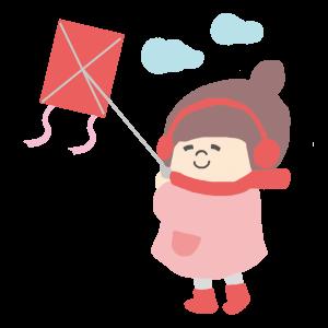 凧あげ 女子