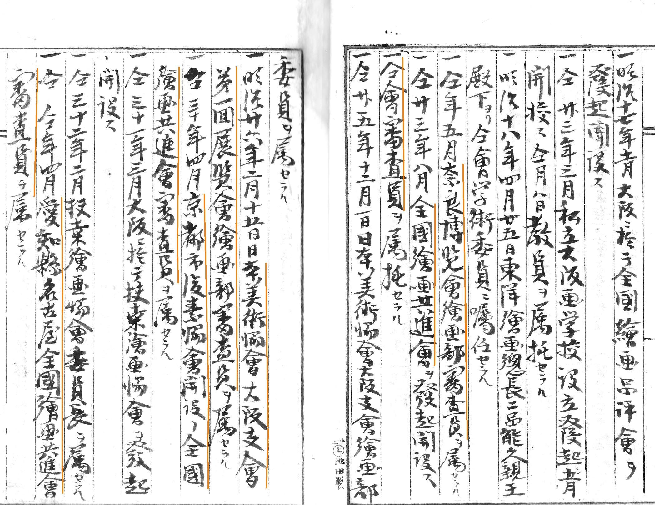 控帳 奈良博覧会(左頁) 画像